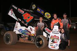 Jason Johnson Nips Crockett in Lucas Oil ASCS Cottage Grove Prelim!
