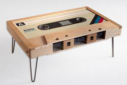 Retro Cassette Tape Table - DISCOUNTED SECONDS TABLE
