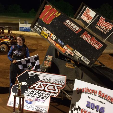 Morgan Turpen Notches First ASCS Southern Outlaw Sprint Victory at Southern Raceway