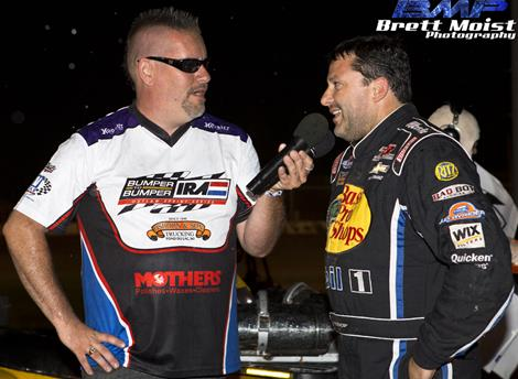 SMOKE, NIGHTMARES AND THUNDER!  STEWART WINS DUEL WITH BALOG FOR BUMPER TO BUMPER IRA SPRINT VICTORY AT PLYMOUTH!