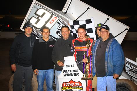 Christopher Bell wires El Paso field for Lucas Oil ASCS triumph