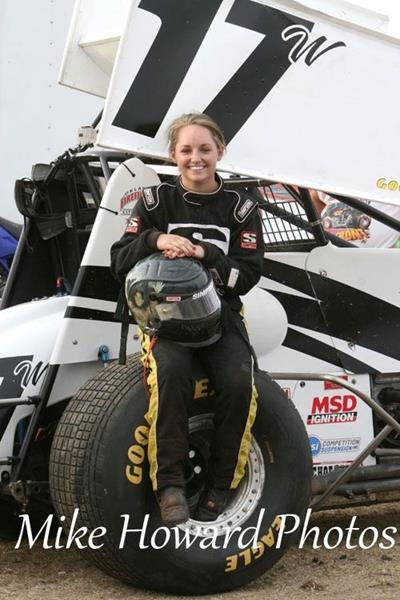 Harli White Race Car Driver