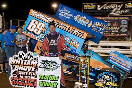 Lance Dewease outduels Freddie Rahmer for Hinnershitz Memorial title at Williams Grove Speedway