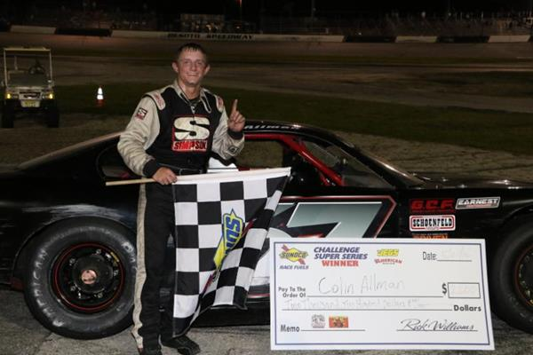 Allman wins wild Sunoco Challenge feature at Desoto