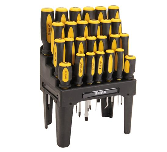 cooling ideas for garage - Titan Tools 26 Piece Screwdriver Set Circle Track and