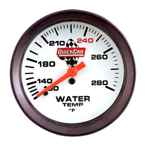 quickcar extreme 2 5 8 water temp gauge 0 280 f circle. Black Bedroom Furniture Sets. Home Design Ideas