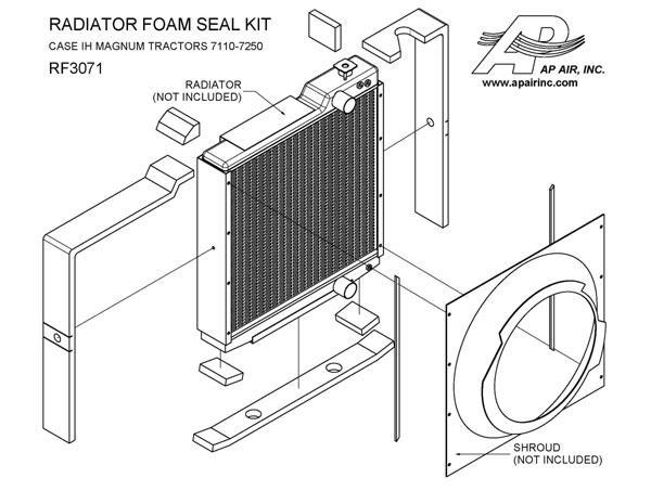 ap air inc - radiator foam seal kit