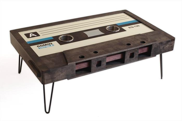 Cassette Tape Coffee Table, Mixtape Coffee Table, LED Cup Holders Design Inspirations