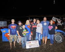 """Superman"" Earns Fourth Northwest Extreme Late Model Victory"