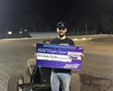 Kyle Miller Wins CGS Wingless Sprint Series F
