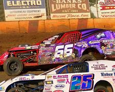 Tight Budweiser IMCA Modified Point Battle At