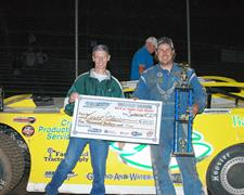Trevor Glaser Wins CGS DIRTcar Super Late Mod