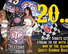 Grays Harbor Gives Schatz His 20th Win of the