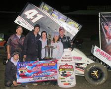 The Cajun Rages in Brownfield Memorial Prelim; Johnson Takes Second Lucas Oil Sprint Car Win of the Year!