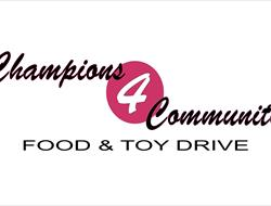 Champions 4 Community Food and Toy Drive