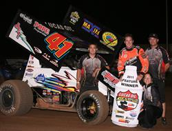 Jason Johnson Nips Crockett in Lucas Oil ASCS Cott