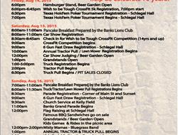 Banks Tractor & Truck Pull Weekend Information