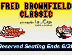 Brownfield Classic Reserved Seating Available thro