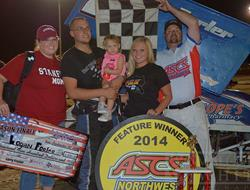 Forler Makes Last Lap Pass For ASCS-Northwest Yaki
