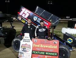 Sam Hafertepe, Jr. Sweeps The Lucas Oil ASCS Brown