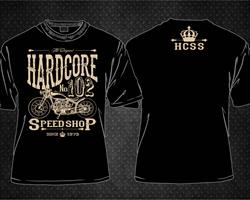 NEW TO THE HCSS LINE UP - THIS VINTAGE PRINT HARDCORE SPEED SHOP No.102 Bobber