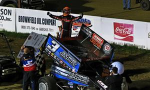 Swindell Drives into Victory Lane for 46th Straight Season with GoMuddy.com NSL 360 Sprints Triumph