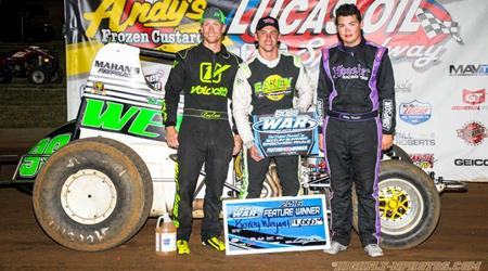 WEYANT CONQUERS LUCAS OIL FOR 3RD IN A R...