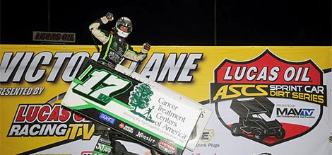 Bryan Clauson Adds Lucas Oil ASCS Victory At...