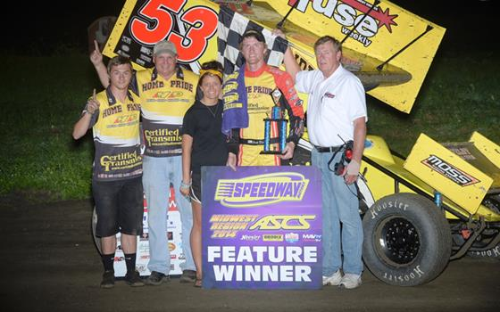 Jack Dover tops ASCS Midwest. Takes Down...