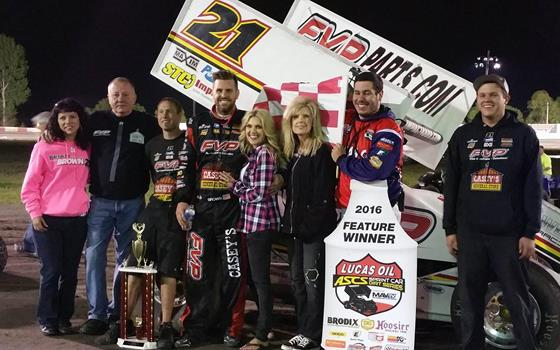 Brian Brown Earns First Career Lakeside...