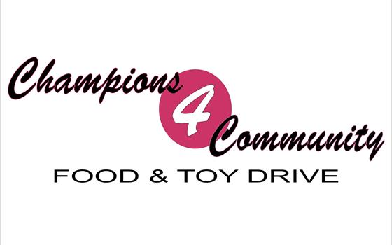 Champions 4 Community Food & Toy Drive... IS GROWING... and GROWING... and GROWING!