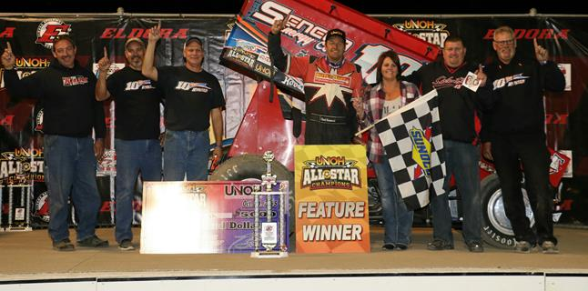 Chad Kemenah Earns UNOH All Star Finale Win During Eldora's UNOH Sprintacular