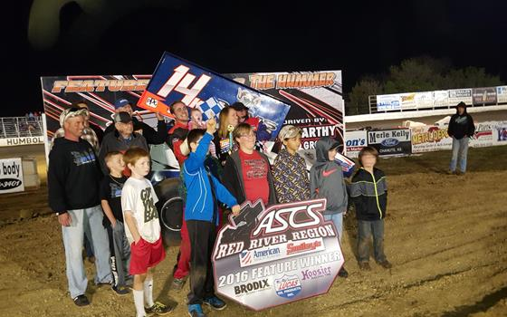 Kyle Bellm Wins A Thriller With ASCS Red...