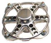Keizer Micro Sprint Hub & Bearings, 4-Pin Polished