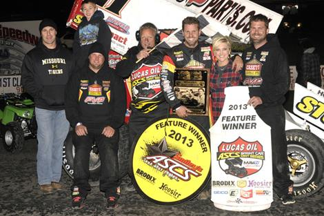 Brian Brown ices the field in Devil's Bowl Winter Nationals