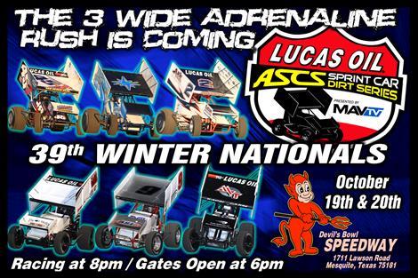 Lucas Oil ASCS Head for Devil's Bowl Winter Nationals