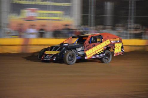 Walters, Carrell, O'Neil, And Westcott Visit Sunset Speedway Park Victory Lane