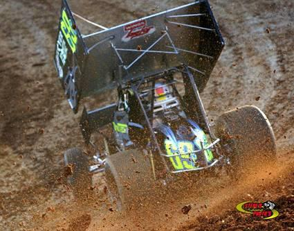 Kyle Larson, Chad Compton & Jason Meyers 1st ever sprint car victory