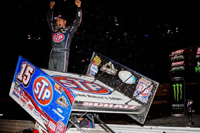 Schatz Continues Outlaw Dominance with Win at Skagit Speedway