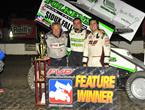 Tim Kaeding Roars from 14th to Win NSL Finale at I-80 Speedway!