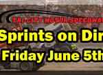Sprints on Dirt Friday June 5th!
