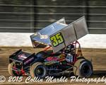 Scelzi Records Top Five While Doing Double Duty at Calistoga Speedway