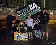 Ronnie Gilmore Jr. Wins SSP Dwarf Car Nationals Presented By 98.7 The Bull; Torkelsen, Silliker, Ireland, And Cpt. Turnabout Also Earn Wins