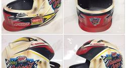 Brian Brown helmet showcase item in this year's National Open Benefit