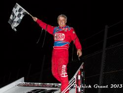 Swindell Hustles the Highbanks for Lucas Oil ASCS Score.