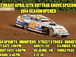Cottage Grove Speedway Looks To Get 2014 Campaign Underway Saturday April 12th