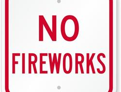 NO FIREWORKS AT SSP ON 9-13; REGULAR TICKET PRICES IN EFFECT