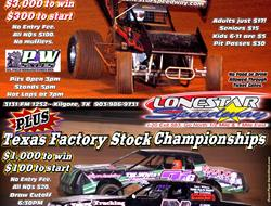 Lone Star Speedway Announces $3,000 to win for ASCS Lone Star Region