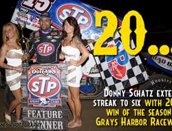 Grays Harbor Gives Schatz His 20th Win of the Season