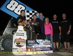 Shane Stewart on top at Cocopah with Lucas Oil ASCS